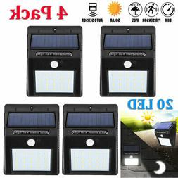 Outdoor 20 LED Solar Wall Lights Power Motion Sensor Garden