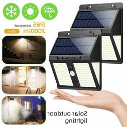 Outdoor 250 LED Solar Wall Lights Security Motion Garden Yar