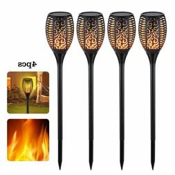 outdoor 96 led solar torch dancing flickering