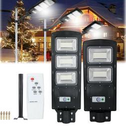 Outdoor Commercial 90W LED Solar Street Light IP67 Dusk to D