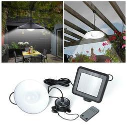 Outdoor Garage Remote Control Solar Lamp  Powered Hanging Ga