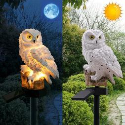 Outdoor Garden Lights Solar Power Owl Decor Path Lawn Yard L