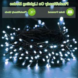 72ft 200 LED Outdoor Indoor Cool White Solar String Christma