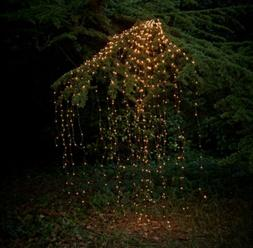 Outdoor LED Solar Lights String Waterfall Fairy icicle Light