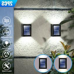 Outdoor Solar 2 LED Deck Lights Path Garden Patio Pathway St