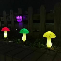 Outdoor Solar Garden Lights, Solar Powered Mushroom Lights,