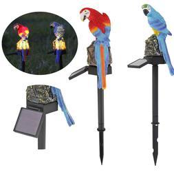 Outdoor Solar Lamp Power LED Parrot Owl Garden Light Long Li