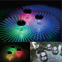 Solar Power LED Floating Lights Garden Pond Pool Lamp Color