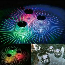 Outdoor Solar LED Floating Lights Garden Pond Pool Lamp Rota