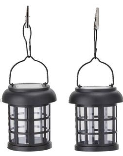 Outdoor Solar LED Lanterns Umbrella Hanging Garden Patio Bac