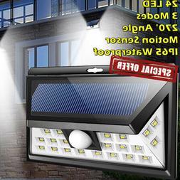 Outdoor Solar LED Lights Motion Sensor Security Flood Light