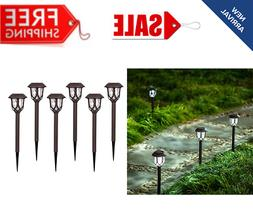OUTDOOR SOLAR LED PATHWAY LIGHTS Walkway Garden Landscape Pa