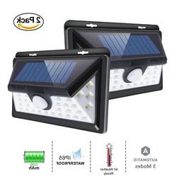 Outdoor Solar Lights 34 LED, Ultra High Brightness Wide Angl