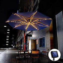 Outdoor Solar Patio Umbrella String Lights Solar Powered Bri