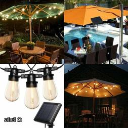 Outdoor Solar String Lights 25 Ft Vintage S14 Hanging Patio