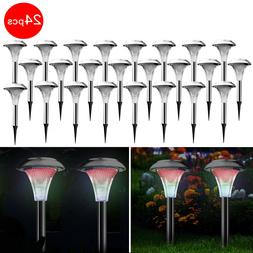 Stainless Steel Solar Powered Garden Light  Color Changing L