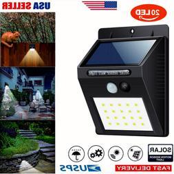 Outdoor Waterproof 20 LED Solar Light PIR Motion Sensor Wall