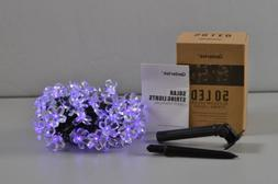 Outdoor Waterproof Solar Flower String Lights, 23ft 50 LED L