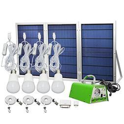 HKYH Solar Panel Lighting Kit, Solar Home DC System Kit, US