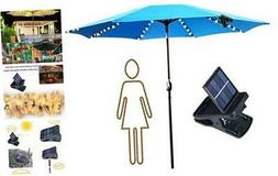 Patio Umbrella Lights Solar Powered String Lights with Clip