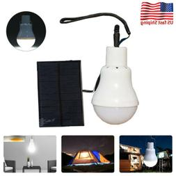 Portable Solar Powered LED Bulb Panel Lighting Tent Lights I
