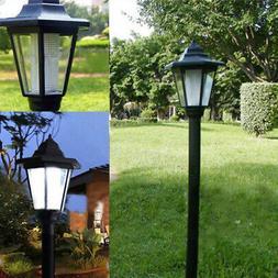 Post Pole Light Outdoor Garden Driveway Solar Power Yard Lan