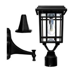 Gama Sonic Prairie 1Bulb Black LED Outdoor Solar Post Light