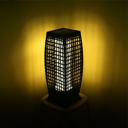 Rattan LED Solar Power Lamp Lantern Garden Park Wicker Floor