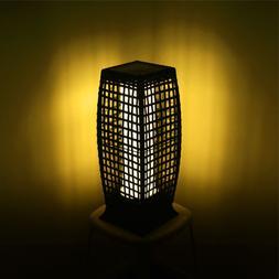 Rattan LED Solar Power Lamp Lantern Garden Park Wicker Floor