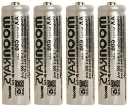 Moonrays Rechargeable AA Batteries For Solar-Powered Lights