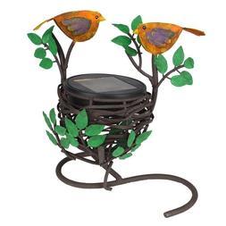 Robin Bird Love Nest Solar Light. For Windowsill, Table Top,