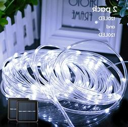 Lalapao Rope Lights 2 Pack Solar Powered Xmas String Lights