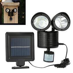LED Outdoor Security Floodlight with Light Sensor, Solar Pow