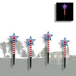 SET of 4 Solar Powered 100 LED String Fairy Lights Garden Pa