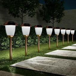 set of 8 solar pathway led lights