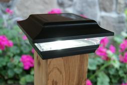 Classy Caps SL211B 4X4 BLACK ALUMINUM IMPERIAL SOLAR POST CA