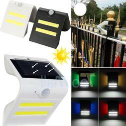 Smart COB LED Solar Power PIR Motion Sensor Wall Light Outdo