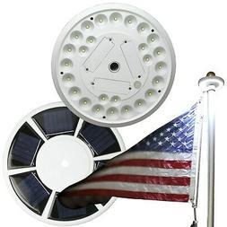 Solar 26 LED Flag pole Top Bright Light Auto Improved Design