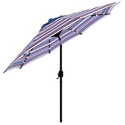 Sunnyglade 9' Solar 24 LED Lighted Patio Umbrella with 8 Rib