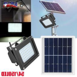Solar 54 LED 5W Light Sensor Flood Spot Lamp Garden Outdoor