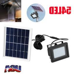 Solar 54 LED Light Sensor Flood Spot Lamp Garden Outdoor Sec