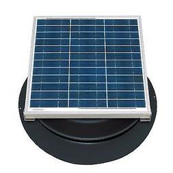 Natural Light Solar Attic Fan 36 Watt Roof Mount Black - SAF