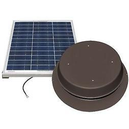 Natural Light Solar Attic Fan 60 Watt Roof Mount Bronze - SA