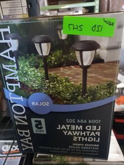 Hampton Bay Solar Bronze LED 10 Lumens Metal and Glass Path