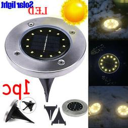 Solar Buried Floor LED Light Under Ground Lamp Outdoor Pathw
