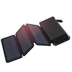 Briday Solar Charger Detachable Power Bank with 2 Solar Pane