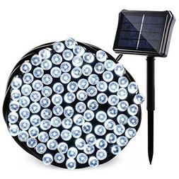 Qedertek Solar Christmas String Lights, 72ft 200 LED Outdoor