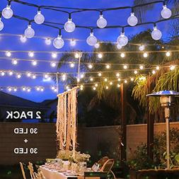Binval Solar Christmas String Lights for Outdoor Patio Lawn