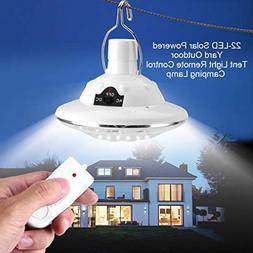 Rambling Solar Circular Hooking Remote Control Lamp, New 22L