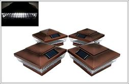 """8-Pack Solar Copper Finish Post Deck Fence Cap Lights for 4"""""""